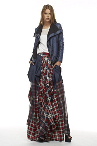 TOV The Damsel`s Plaid Maxi Skirt Punk Princess Pick Up Pleats (38 ...