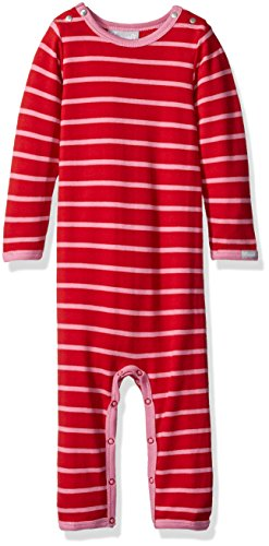 Pink Red Stripe Jersey Knit Cotton Union Suit, Cranberry/Begonia, 6 Months ()