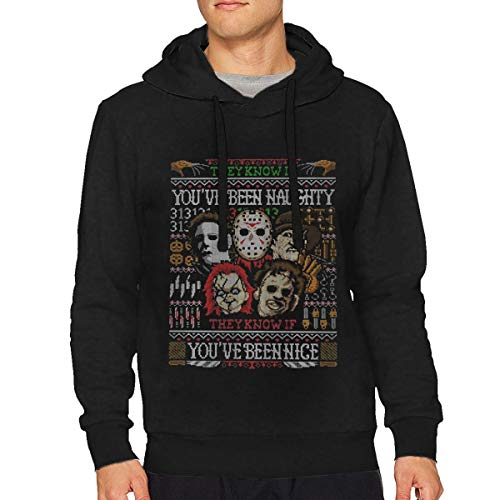 Linkondon94na Mans Classic Michael Myers and His Accomplices - Halloween Hoodies Hooded Sweatshirt 3XL ()