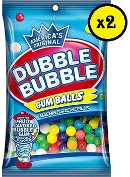 Bolas Chicle - Especial maquina expendedora Hucha - DUBBLE BUBBLE - 2x90Gr