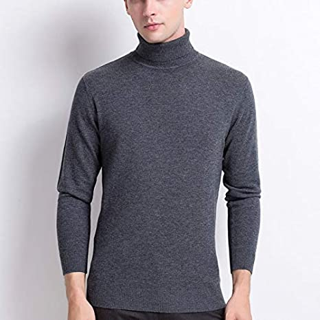 QWESHTU Camiseta con Cuello Alto Slim Fit para Hombre,Jersey ...