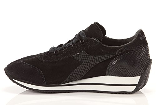 B9168 sneaker donna DIADORA HERITAGE TRIDENT scarpe nero shoes woman [38]