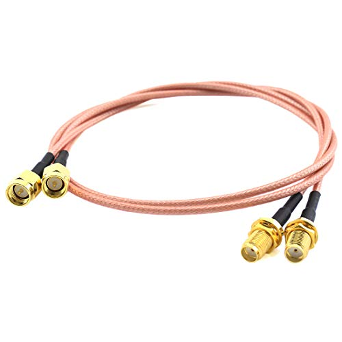 SDTC Tech 2pcs SMA Male to SMA Female RF Coaxial Cable Antenna Extender Cable Adapter RG316 Coax Jumper Connector(20 inches)