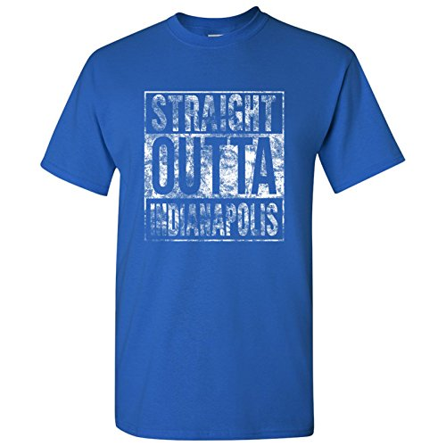 UGP Campus Apparel Straight Outta Indianapolis T-Shirt - Large - Royal Blue
