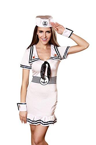 Vivihoo EU646 Women's Halloween Soldier Uniform Leotard Cosplay Dress Sailor Costumes (M) (Sailor Halloween Costumes)