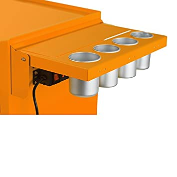 Viper Tool Storage V1SOR Power Shelf For Salon Cart, Orange