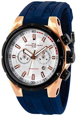 Officina del Tempo Reloj de cuarzo Man Sail Crono Os21 50.0 mm: Amazon.es: Relojes