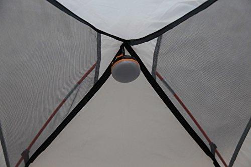 41bArfncWwL High Peak Kuppelzelt Nevada 3, Campingzelt mit Vorbau, Iglu-Zelt für 3 Personen, doppelwandig, wasserdicht…