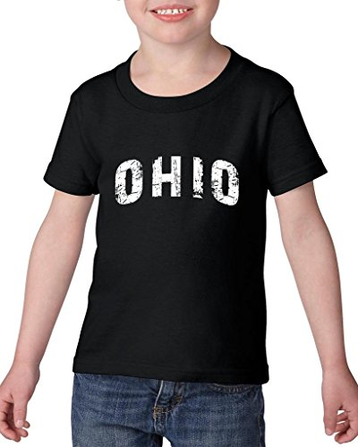 ARTIX Ohio Love Home My State USA Toddler Kids T-Shirt Tee Clothing 5T Black