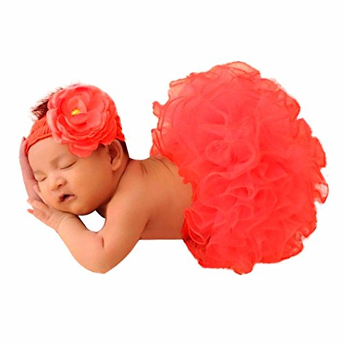 Clearance! Newborn Baby Girls Photo Photography Prop Tutu Skirt Headband Outfit Clothes Set (Cute Halloween Costumes Easy To Make)