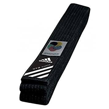 adidas Elite Karate Gürtel WKF Schwarz Kampfsport: