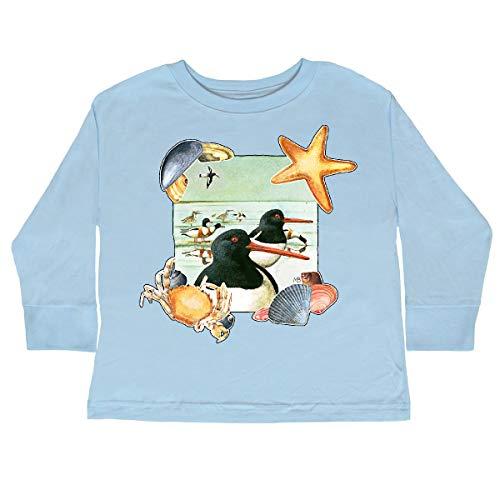 inktastic Seaside Toddler Long Sleeve T-Shirt 4T Light Blue - Marjolein Bastin