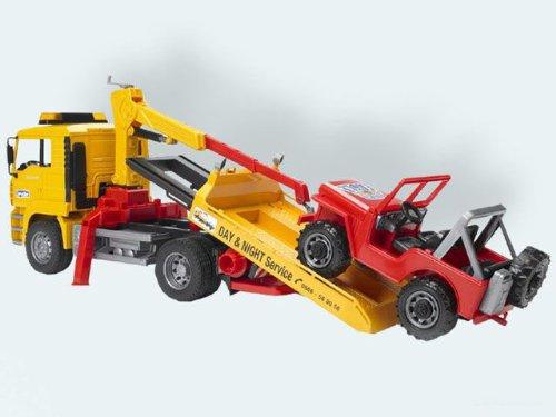 Bruder 02750 - MAN Abschlepp LKW mit Geländewagen 26 cm B003BJWN5C Lastwagen Kompletter Spezifikationsbereich | Starke Hitze- und Hitzebeständigkeit