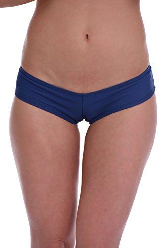 Tiara Galiano Sexy Women's Bikini bottom Brazilian Boyshorts - Made in EU S-XL Lady Swimwear 107 (M, Dark - Italian Suit Bathing