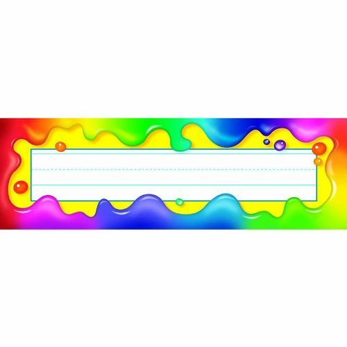 Rainbow Gel Desk Toppers Name Plates Plates Plates by Trend 64dcc4