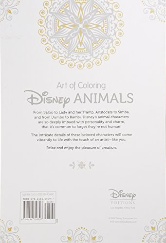 Art Of Coloring Disney Animals 100 Images To Inspire Import It All