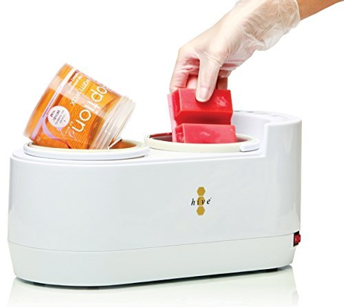 Hive Cera depilatoria in digitale Dual riscaldatore 1 litro / 0, 5 litro Pot riscaldatore depilazione scalda paraffina apparecchiatura del salone di bellezza CODE: HOB8100