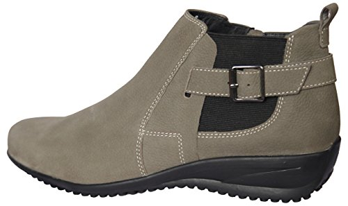 Women's Samia Boots Leather Chelsia Calamita ENAAF Nubuck by Genuine Flat rTYxwERqrn