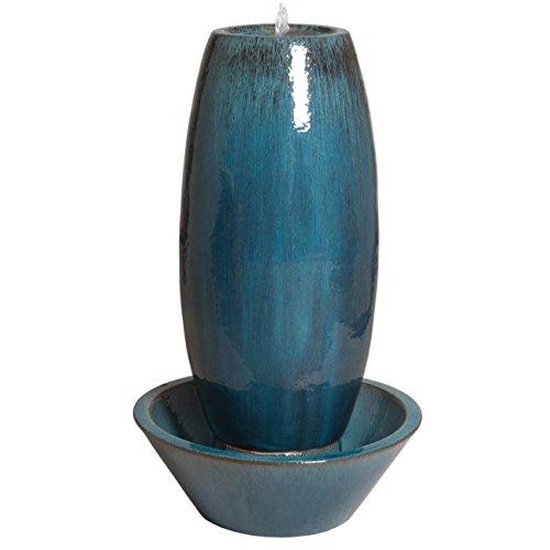 Large Ceramic Garden Fountain – Blue