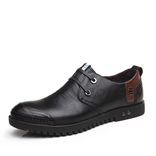 Scarpe Da Uomo Per Il Tempo Libero In Pelle Tendine Dress Autunno E Inverno Business Slip On Marrone-nero Nero A Estrenar Unisex k6b3o