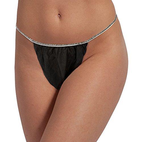 Price comparison product image For Pro Tanga Unisex Bikini, Black, 50 Count