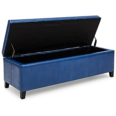 Best Choice Products Leather Storage Ottoman Bench