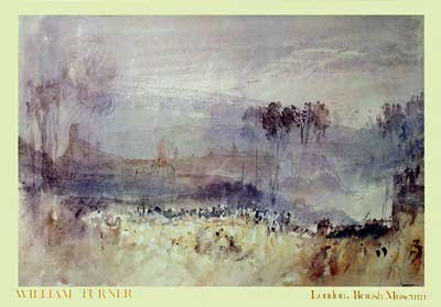 Watercolor William Turner (Joseph Mallord William Turner - Watercolor Landscape NO LONGER IN PRINT - LAST ONES!!)
