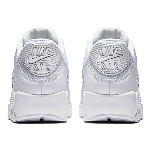 Nike Mens Air Max 90 Essential Exercise Fitness Running Low Cut Sneakers - White/White - 9 by NIKE (Image #2)