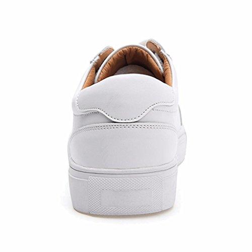 De Cuero de Deportes para Moonwalker Mujer Zapatillas Blanco FwBqxa