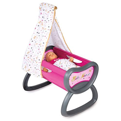 Smoby 220311 - Baby Nurse - Bercelonnette - Lit pour Poupon - Drap Inclus