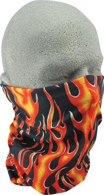 Zan Headgear Motley Tube , Gender: Mens/Unisex, Primary Color: Orange, Distinct Name: Classic Flame, Size: OSFM T223