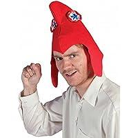 P'tit Clown Bonnet phrygien en Feutrine Adulte-Rouge, Unisex, 79150, Taille Unique