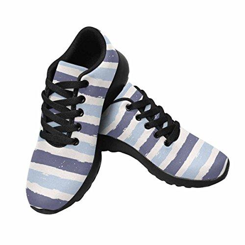Interestprint Chaussures De Course De Trail Jogging Sport Léger Marche Athlétique Baskets Stripes Pattern Multi 1