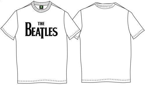 Black X-large The Beatles Men/'s Drop Logo Short Sleeve T-shirt Mens Tshirt