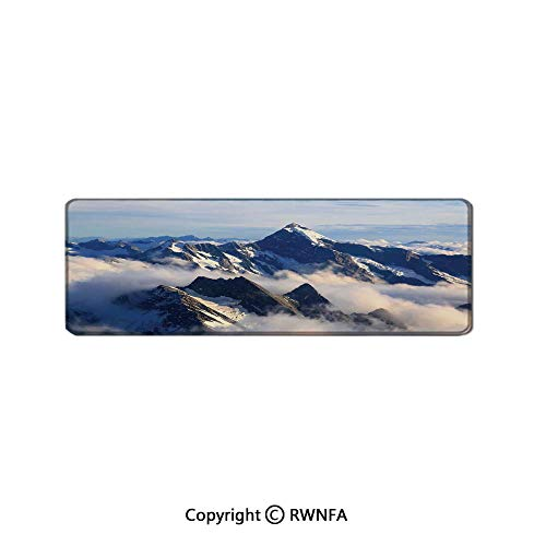 Landscape of High Majestic Mountains with Cook Peak with Mist Cloud Earth Photo Customized Rat Pad,(15.7