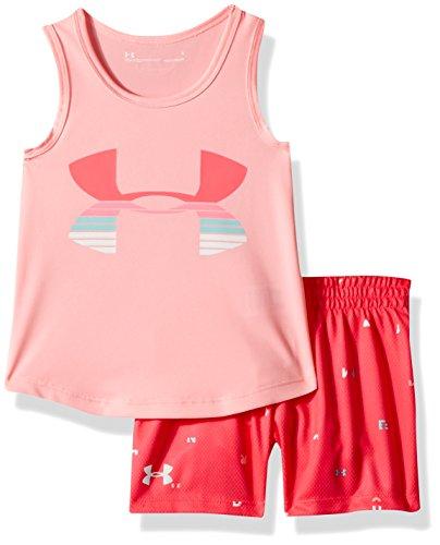 Under Armour Girls' Toddler UA Tank and Short Set, pop Pink -