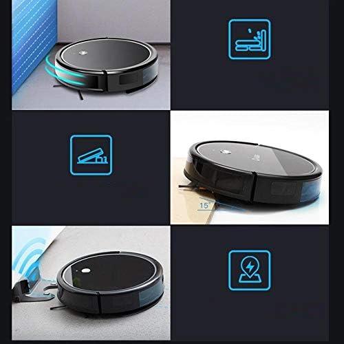 Robot de balayage ultra-mince aspirateur automatique intelligent vadrouille tout-en-un noir