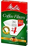 4 cup cone coffee filter - Melitta Cone Coffee Filters with Measure Markings No. 4 White 40 Count Pack of 2 (80 Filters Total)