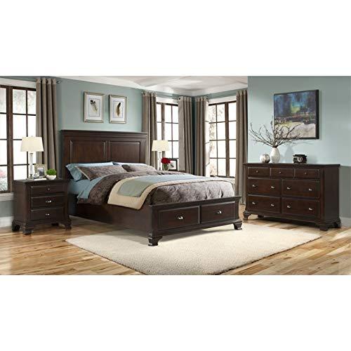 Picket House Furnishings Brinley 6 Piece King Bedroom Set in Cherry by Picket House Furnishings