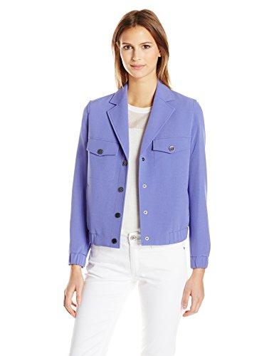 Womens Eisenhower Jacket - Anne Klein Women's Eisenhower Jacket with Snaps, Lilac, 16