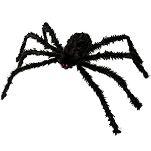 spider decorations kearui outdoor indoor halloween spider hairy poseable scary spider tarantula for patio yard garden house decorations 4 ft 125 cm - Spider Decorations