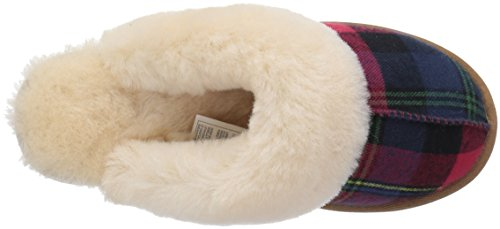 Red Plaid Roosevelt Textile Slide Collective Slipper 206 Shearling Women's nwq1SaYFa