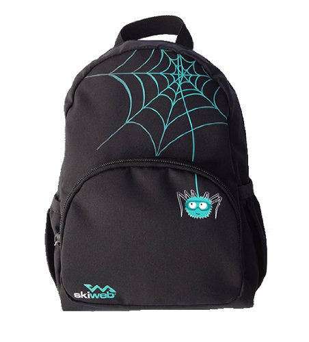 Kids Medium Backpack with Cute Spider Zipper Pulls