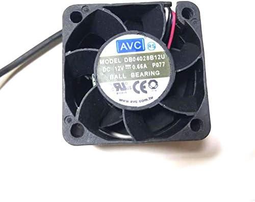 Ayazscmbs compatibili per DB04028B12U 40mm Ventilatore 4cm 4028 40x40x28mm 12V 0.66A Dual Ball Bearing 4-Wire 4pin PWM Server Power Airflow Coo