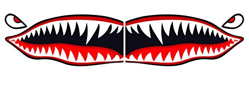 Flying Tigers shark teeth decal sticker WWII Military Airplane 5