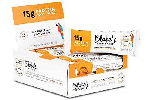 Blake's Seed Based Protein Bar – Made with Pea Protein – Mango Lemon – Nut-Free, Gluten-Free, Vegan, Allergen Friendly 2.12 oz. (Pack of 12)