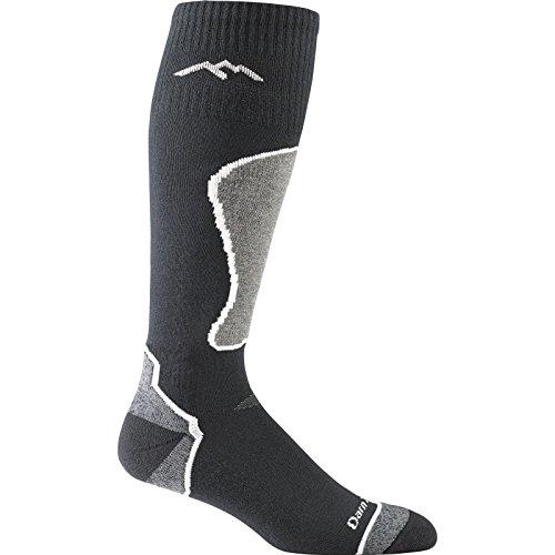 Darn Tough Vermont Men's Thermolite OTC Padded Cushion Socks, Black, Polar, L