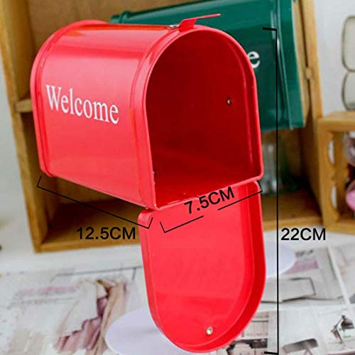 SaveStore Vintage Tin Mailbox Newspaper Mailbox Letter Newspaper Mailbox for Home Vintage Mailboxes Post Box Home Decoration by SaveStore