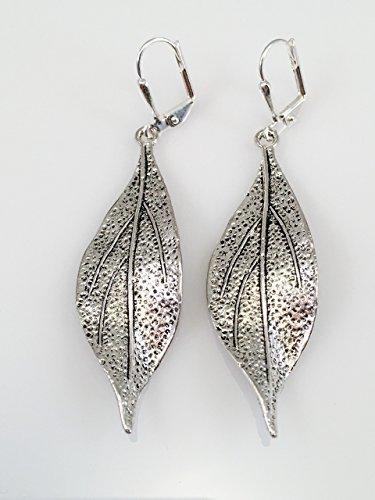 long-pewter-leaf-earrings