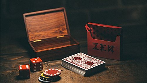 (Conjuring Arts Research Center Royal Zen Playing Cards (Red) by Expert Playing Cards)